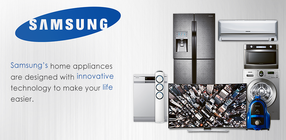 SAMSUNG, home appliance products and TV/Audio/Video devices